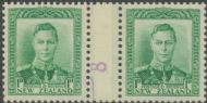NZ Counter Coil Pair SG 606 1938-44 1d King George VI Join No. 8 (NCC/305)